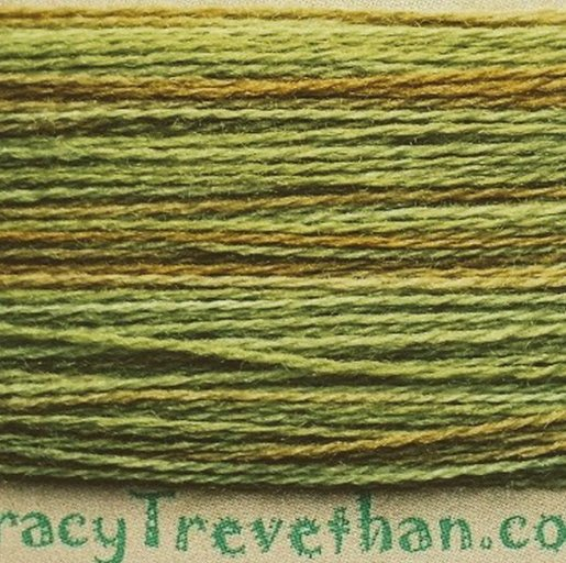 Hand Dyed Variegated Wool Thread- Meadow