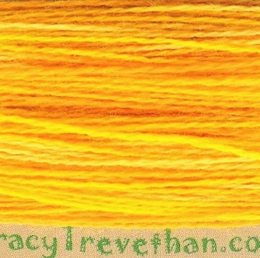 Hand Dyed Variegated Wool Thread Sunshine