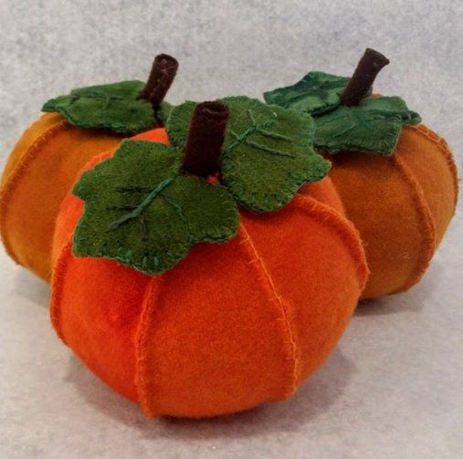 Wooly Pumpkin Pin Cushion Pattern