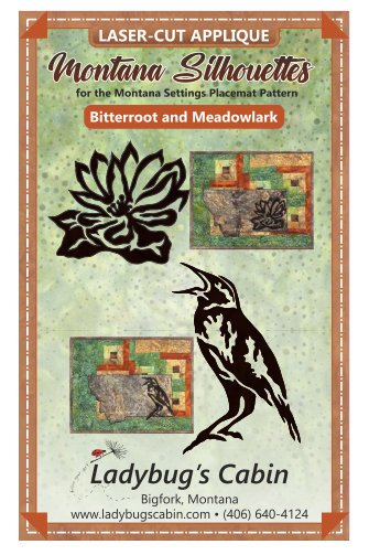 Bitterroot and Meadowlark Montana Silhouette Applique Set