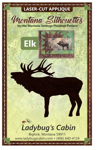 Elk Montana Silhouette Applique left-facing