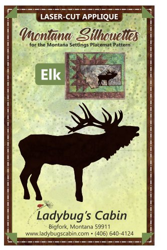 Elk Montana Silhouette Applique right-facing