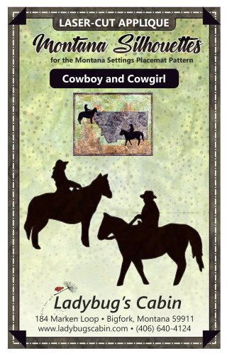 Cowgirl and Cowboy Montana Silhouette Applique Set