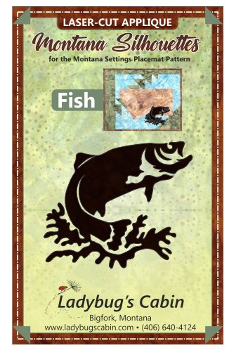 Fish Montana Silhouette Applique right-facing