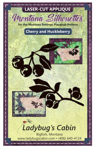 Huckleberry and Cherry Montana Silhouette Applique Set