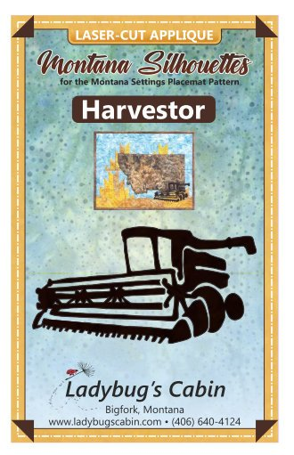 Harvester Montana Silhouette Applique