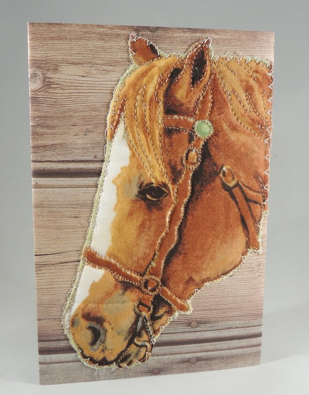 Horse Quilted Greeting Card