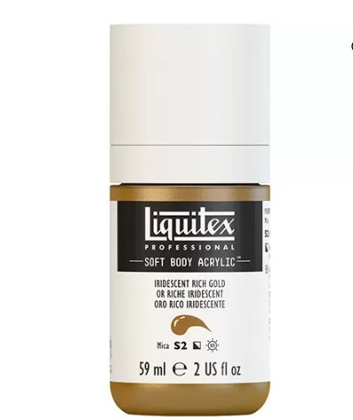 LIQUITEX PROFESSIONAL SOFT BODY ACRYLIC PAINT (2OZ/59ML) Rich Gold Iridescent/Metal
