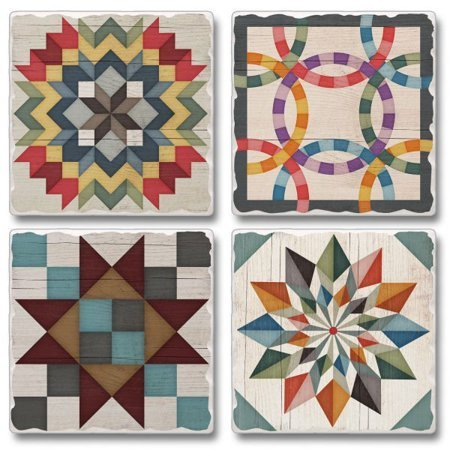 Quiltblock themed coasters