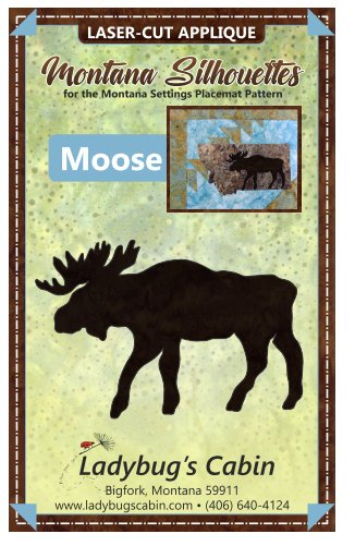 Moose Montana Silhouette Applique (Left Facing)