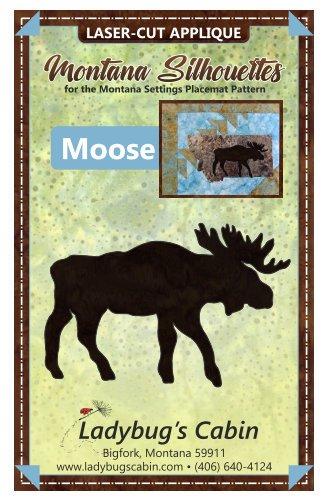 Moose Montana Silhouette Applique (Right Facing)