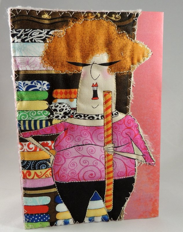My Best Fabric...Quilted Greeting Card