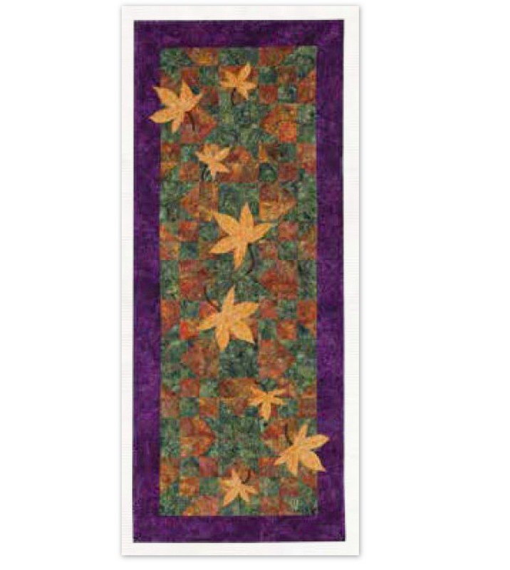 AUTUMN BREEZE TABLE RUNNER PATTERN AND FABRIC KIT