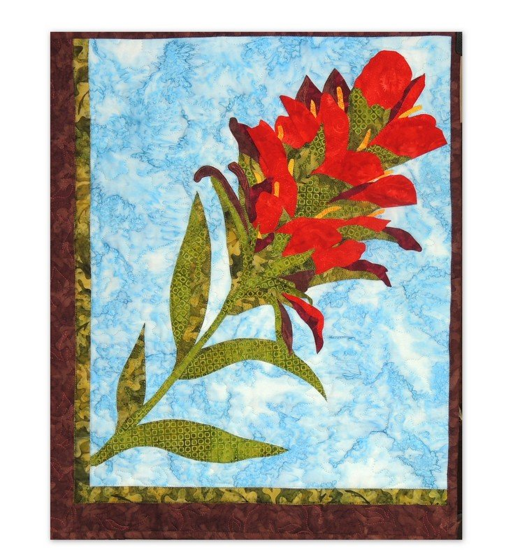 Indian Paintbrush Applique Pattern