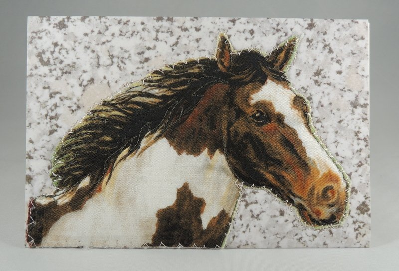 Pinto Horse Quilted Greeting Card