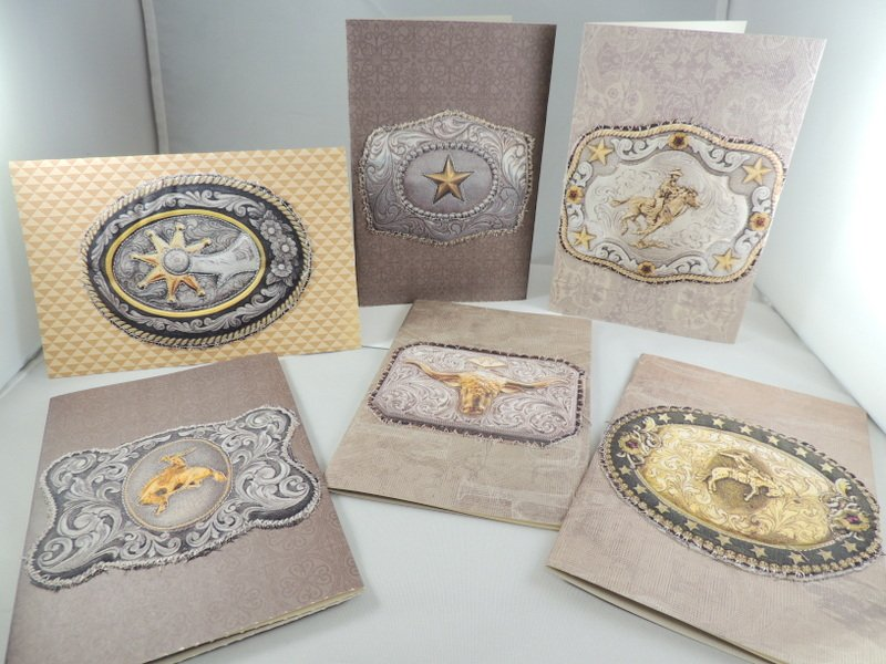 Collection of Western themed quilted greeting cards from Ladybug's Cabin
