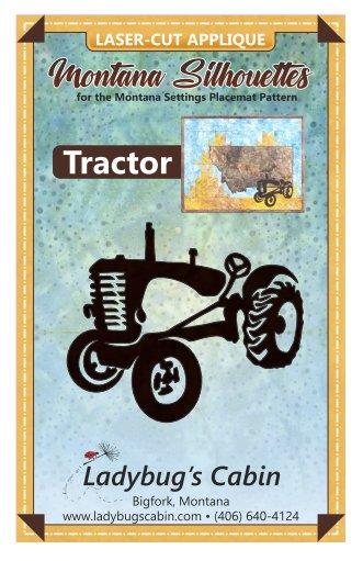 Tractor Montana Silhouette Applique