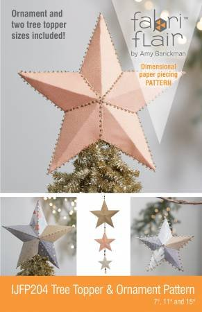 TREE TOPPER & ORNAMENT FABRIFLAIR PATTE