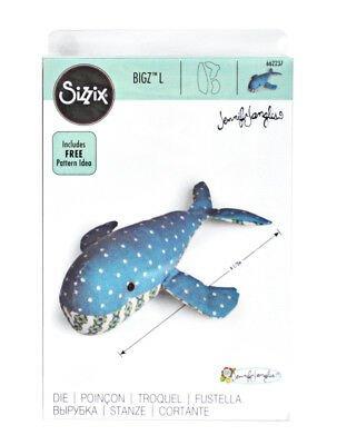 Sizzix Bigz Dies Fabi Edition-L Die - Whale By Jennifer Jangles