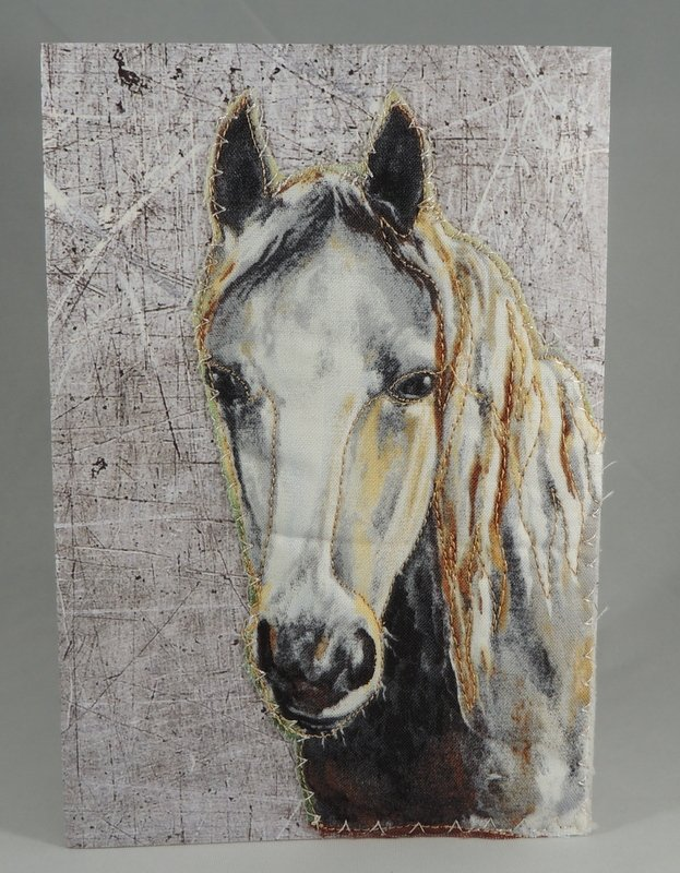 White Horse Quilted Greeting Card