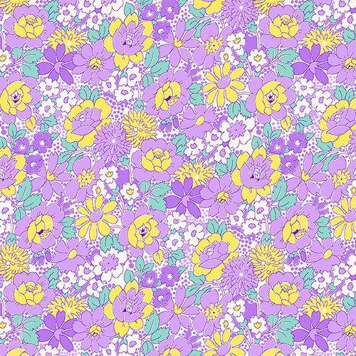 NANAMAE III 1663-55 Purple Medium Floral