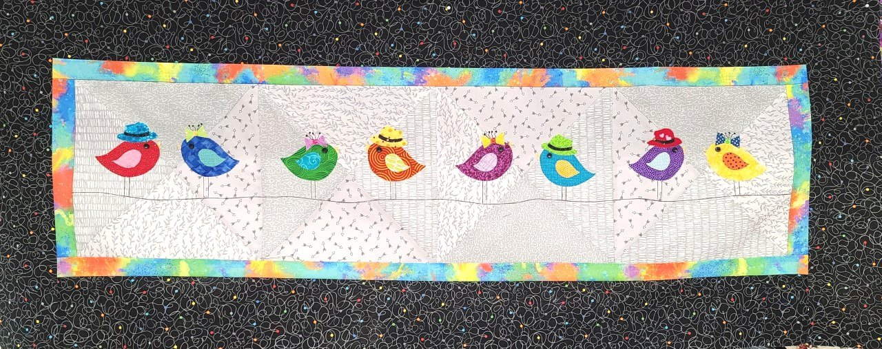 2021 The Granary Quilters Trek Kit- Birds on a Wire