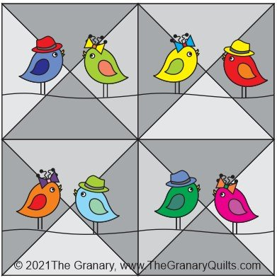 2021 The Granary Quilters Trek Kit- Birds on a Wire - PREORDER