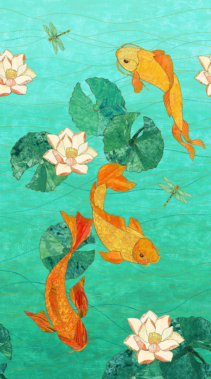 22345M-63 Shimmer Koi Pond