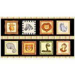 Jungle Buddies ANIMAL PICTURE PATCHES BLACK