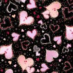 26889-J WITH LOVE LARGE HEARTS