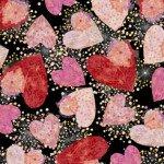 All My Love HEARTS & CONFETTI BLACK