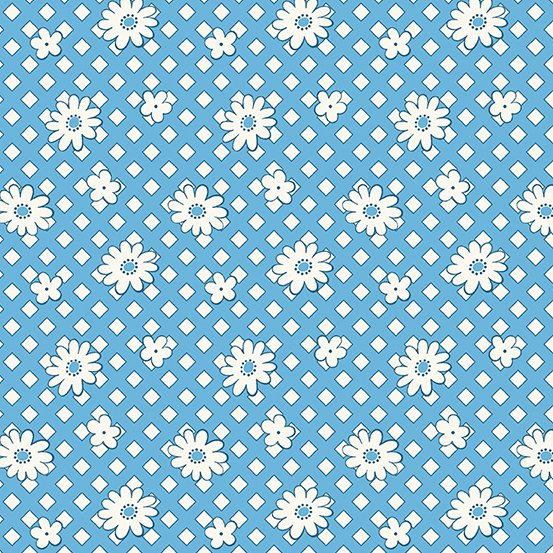 Lottie Ruth - Blue Geo Floral
