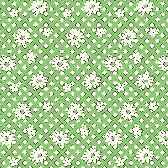 Lottie Ruth - Green Geo Floral