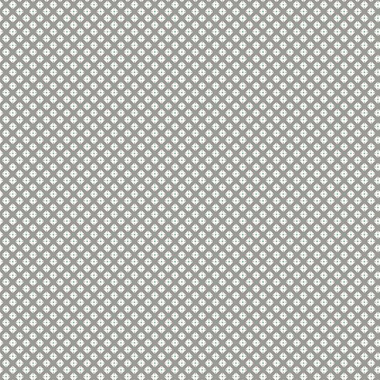 Lottie Ruth - Grey Dotted Square