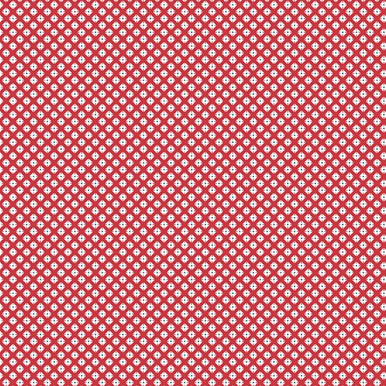 Lottie Ruth - Red Dotted Square