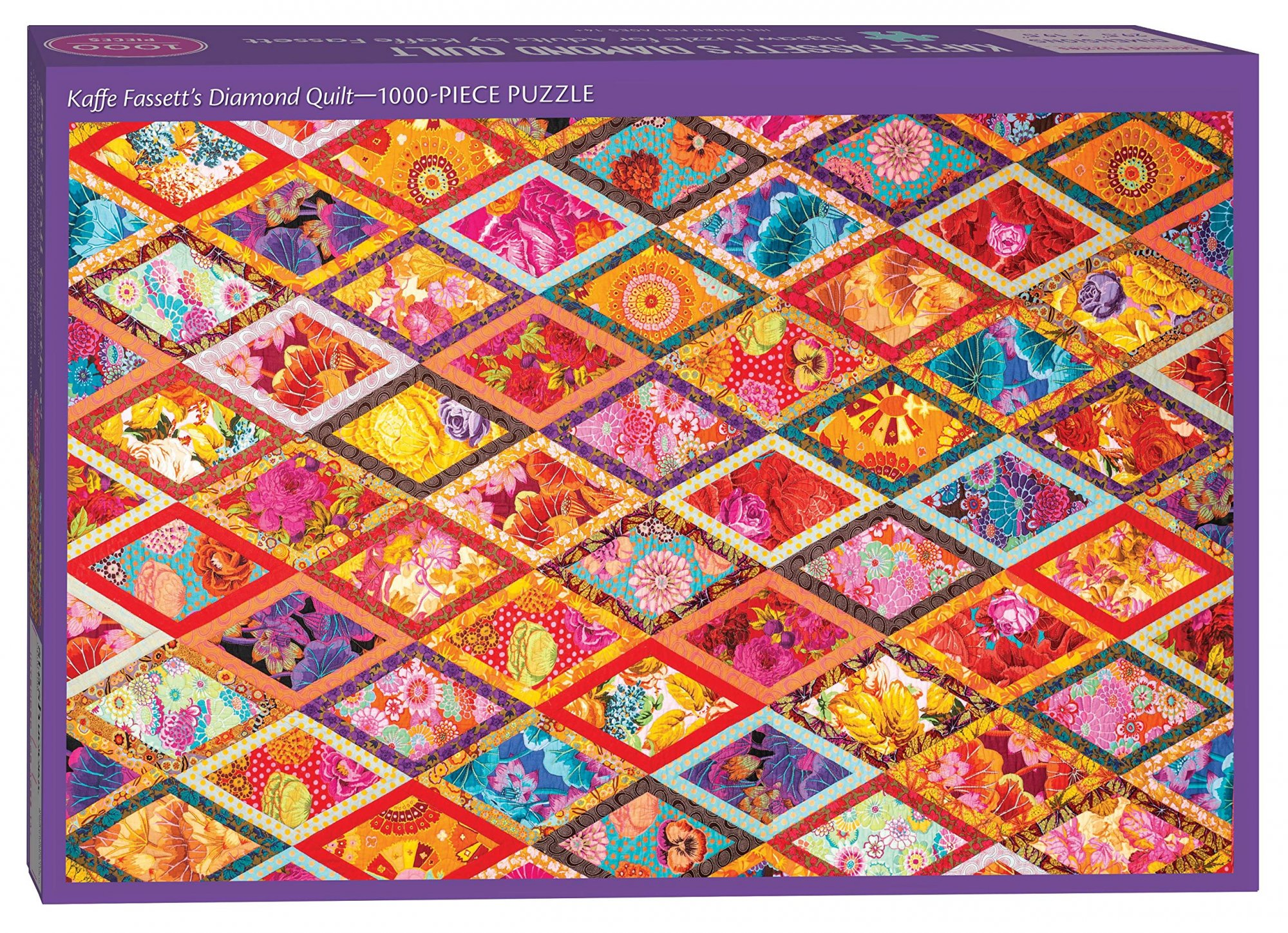 Kaffe Fassett's Diamond Quilt Jigsaw Puzzle for Adults - 1000pc