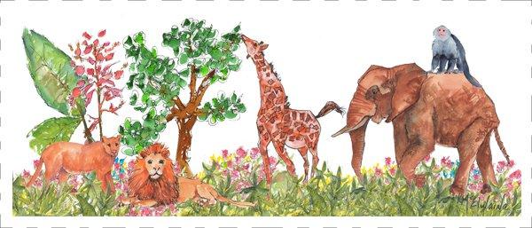 African Animals Quilt Block