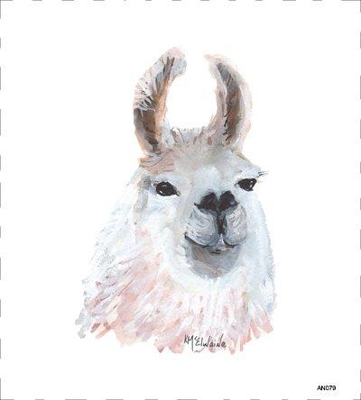 Llama Quilt Block AN079