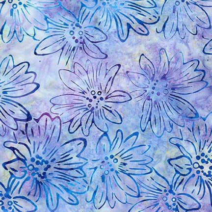 Artisan Batiks: Bright Blooms - Mint