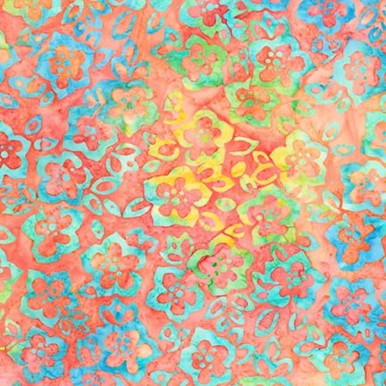Artisan Batiks: Bright Blooms - Melon