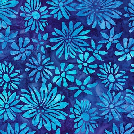 Artisan Batiks: Bright Blooms - Blue