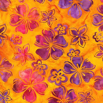 Artisan Batiks: Bright Blooms - Sunburst