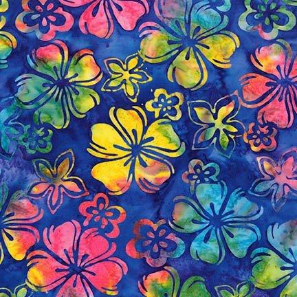 Artisan Batiks: Bright Blooms - Rainbow