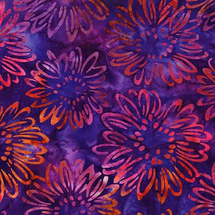 Artisan Batiks: Bright Blooms - Purple