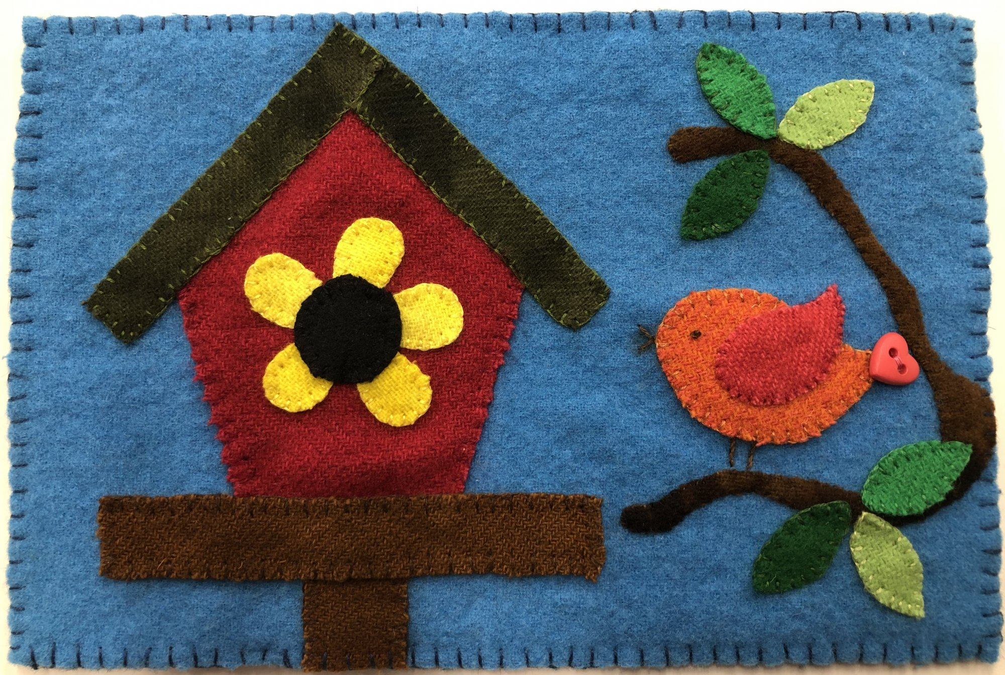 Bird Mug Rug Kit - Wool Applique