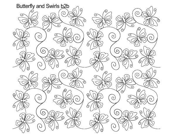 Butterfly and Swirls B2B