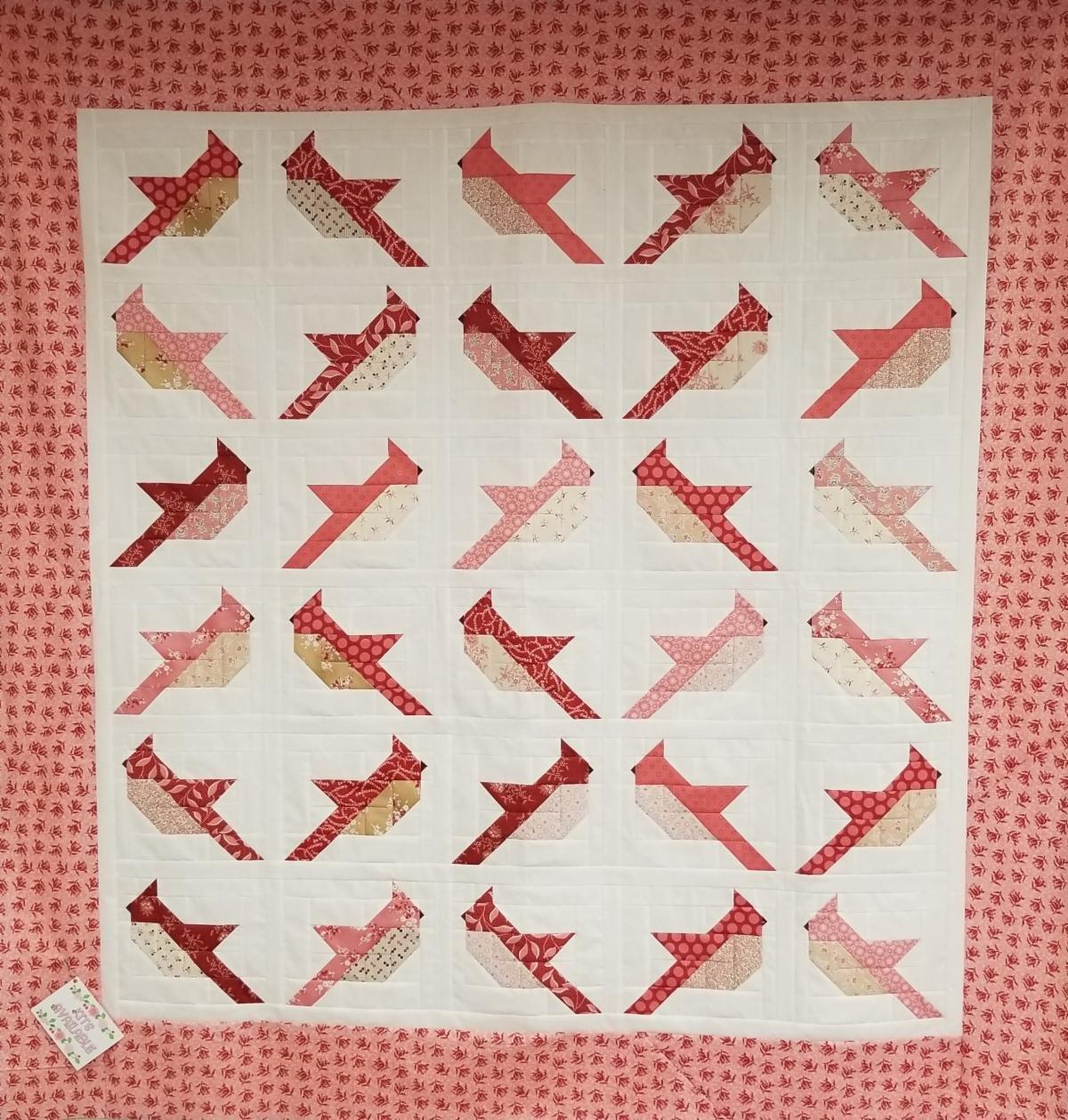 Cardinals Quilt Kit - 59 x 61