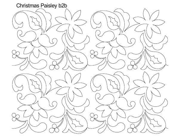 Christmas Paisley B2B