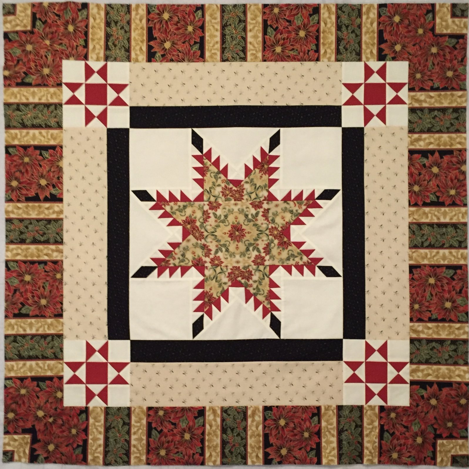Feathered Star Wall Quilt Kit (42 x 42) - Christmas