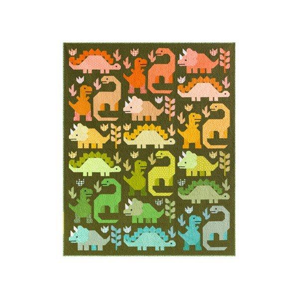 Dinosaurs Quilt Kit by Elizabeth Hartman - 69 x 85